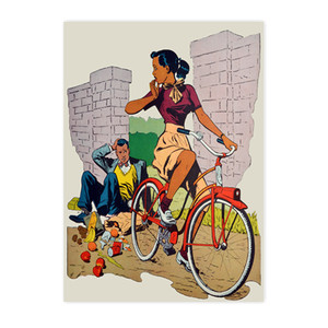 Afrotopia Invitations - Vintage Bicycle - Package Of 10