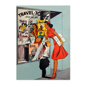 Afrotopia Notecards - Vintage Travel Agency - Package Of 10