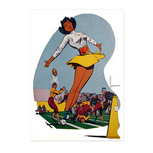 Afrotopia Notecards - Vintage Cheerleader - Package Of 10