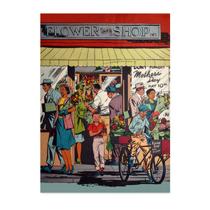Afrotopia Notecards - Vintage Flower Shop - Package Of 10