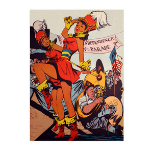 Afrotopia Notecards - Vintage Marching Band - Package Of 10