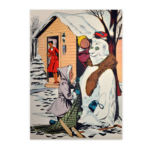 Afrotopia Notecards - Vintage Snow Man - Package Of 10