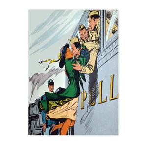 Afrotopia Postcards - Vintage Train Kiss - Package Of 10