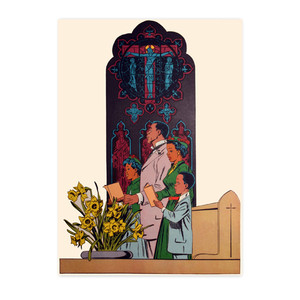 Afrotopia Postcards - Vintage Church - Package Of 10