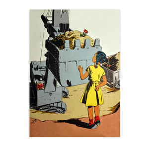 Afrotopia Postcards - Vintage Girl In Yellow - Package Of 10