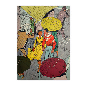 Afrotopia Postcards - Vintage Rain - Package Of 10