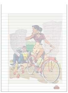 Afrotopia Notepad - Vintage Bicycle