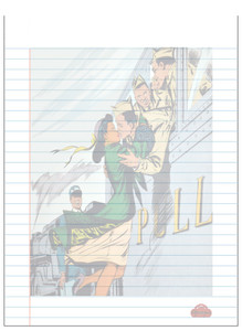 Afrotopia Notepad - Vintage Train Kiss