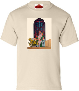 Afrotopia Girl's T-Shirt - Vintage Church - Natural