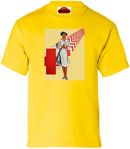Afrotopia Girl's T-Shirt - Vintage Nurse - Yellow