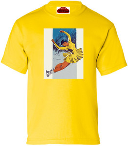Afrotopia Girl's T-Shirt - Vintage Skater - Yellow