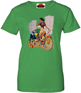 Afrotopia Women's T-Shirt - Vintage Bicycle - Green