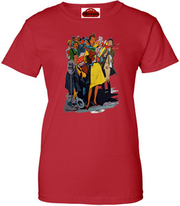 Afrotopia Women's T-Shirt - Vintage Bus Stop - Red