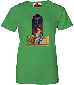 Afrotopia Women's T-Shirt - Vintage Church - Green