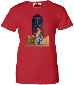 Afrotopia Women's T-Shirt - Vintage Church - Red