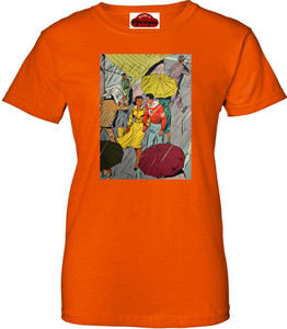 Afrotopia Women's T-Shirt - Vintage Rain - Orange