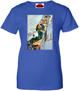 Afrotopia Women's T-Shirt - Vintage Train Kiss - Royal Blue
