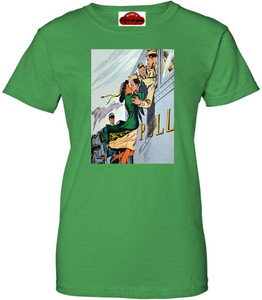 Afrotopia Women's T-Shirt - Vintage Train Kiss - Green