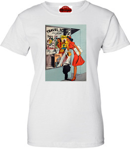 Afrotopia Women's T-Shirt - Vintage Travel Agency - White