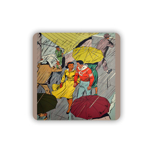 Afrotopia Coasters - Vintage Rain - Package Of 10
