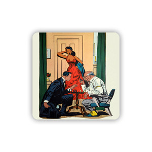 Afrotopia Coasters - Vintage Chess - Package Of 10