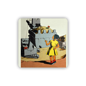 Afrotopia Coasters - Vintage Girl In Yellow - Package Of 10