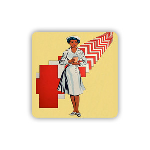 Afrotopia Coasters - Vintage Nurse - Package Of 10