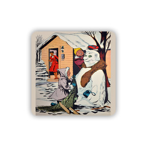 Afrotopia Coasters - Vintage Snow Man - Package Of 10