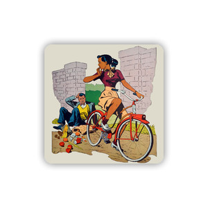 Afrotopia Coasters - Vintage Bicycle - Package Of 10