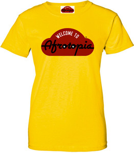 Afrotopia Women's T-Shirt - Vintage Logo - Yellow