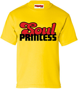 SuperBad Soulware Girls T-Shirt - Soul Princess - Yellow - BR