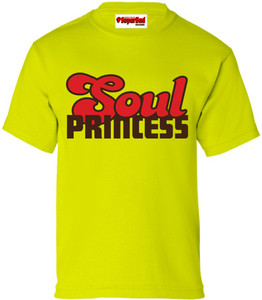 SuperBad Soulware Girls T-Shirt - Soul Princess - Lime Green - BRR