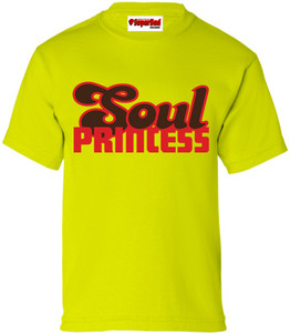 SuperBad Soulware Girls T-Shirt - Soul Princess - Lime Green - RBR