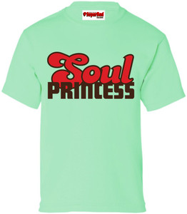 SuperBad Soulware Girls T-Shirt - Soul Princess - Mint Green - BRR