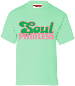 SuperBad Soulware Girls T-Shirt - Soul Princess - Mint Green - PG