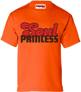SuperBad Soulware Girls T-Shirt - Soul Princess - Orange - BRR
