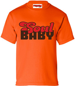 SuperBad Soulware Girls T-Shirt - Soul Baby - Orange - BRR