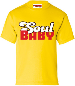 SuperBad Soulware Kids T-Shirt - Soul Baby - Yellow - BRWR