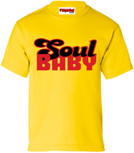 SuperBad Soulware Kids T-Shirt - Soul Baby - Yellow - RB