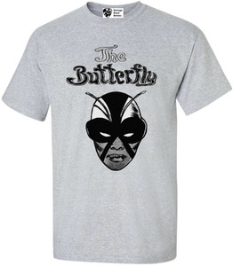Vintage Black Heroines Men's T-Shirt - The Butterfly - 2 - Sport Grey