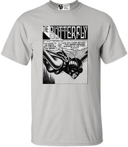 Vintage Black Heroines Men's T-Shirt - The Butterfly - 3 - Ice Grey