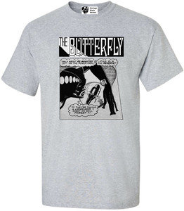 Vintage Black Heroines Men's T-Shirt - The Butterfly - 6 - Sport Grey