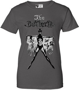 Vintage Black Heroines Women's T-Shirt - The Butterfly - 1 - Charcoal