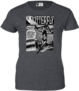 Vintage Black Heroines Women's T-Shirt - The Butterfly - 5 - Dark Heather
