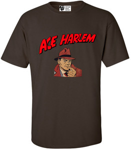 Vintage Black Heroes Men's T-Shirt - Ace Harlem - 1 - Brown