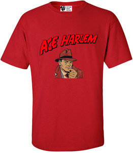 Vintage Black Heroes Men's T-Shirt - Ace Harlem - 1 - Red