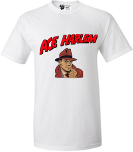 Vintage Black Heroes Men's T-Shirt - Ace Harlem - 1 - White