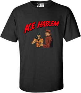 Vintage Black Heroes Men's T-Shirt - Ace Harlem - 7 - Black