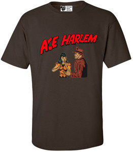 Vintage Black Heroes Men's T-Shirt - Ace Harlem - 7 - Brown