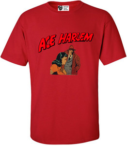 Vintage Black Heroes Men's T-Shirt - Ace Harlem - 15 - Red